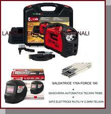 SALDATRICE INVERTER FORCE 195 TELWIN + ACCESSORI+VALIGIA +30 ELETTRODI +LCD AUTO