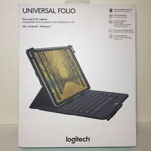 Logitech UNIVERSAL FOLIO Bluetooth 3.0 Keyboard Case for 9–10 Inch iPad Tablet