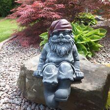 Gartenfigur Gartendeko Gartenzwerge 5 lustige Zwerge mit Willkommen Schild 43cm
