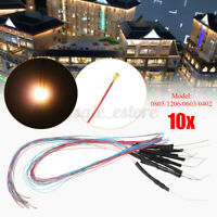 Warm 10pcs Pre-soldered Micro LED Light With Resistance For Sand Table Model 12V