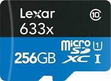 256GB Lexar 95MB/s Class 10 UHS-I U3 A2 SDXC MicroSD Speicherkarte