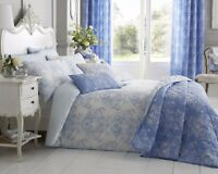 Double Duvet Set in Blue Toile