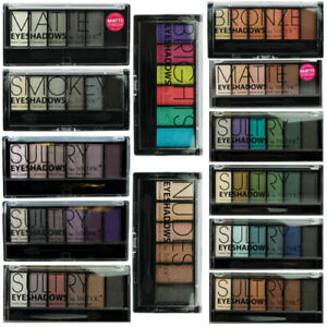 Technic 6 Colour Eyeshadow Palette Smokey Sultry Nudes Bronze Matte Blues