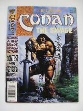 Conan the Savage #1 SIGNED Simon Bisley  1995 Marvel Magazine  VF/NM