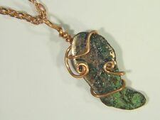 BUTW Copper Wire Wrapped Keweenaw Michigan Float Copper Nugget Pendant 0419E