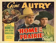 GENE AUTRY And SMILEY BURNETTE In HOME ON THE PRAIRIE 11x14 TC Print 1939