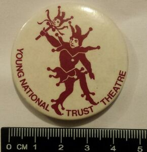 Young National Trust Theatre pin badge vintage