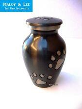 Small Paws Pet Dog Cat Keepsake Cremation Memorial Ashes Brass Metal Urn