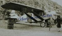 NEWFOUNDLAND HISTORICAL ORIGINAL AVIATION PHOTO HARBOUR GRACE N-X 237 COLUMBIA
