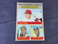 S4-4 BASEBALL CARD - ROBERTO CLEMENTE PITTSBURGH PIRATES - 1970 TOPPS - #61