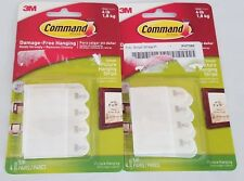 Lot of 2 3M Command Small Picture Hanging Strips 4 Pair Per Pack Holds 4lb 8x10