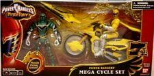 "Power Rangers Mystic Force 5"" Green & 5"" Yellow Ranger w Speeder Cycle New 2006"