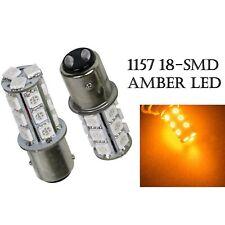 Amber #1157 18 SMD LED Tail Light Rear Brake Stop Turn Signal Lamp 12V Bulb PAIR