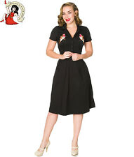Sheen Crystal 50s Dress Vintage Style Robin Black