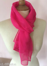 Foulard Etole, Écharpe chèche rose fuchsia ultra léger à porter