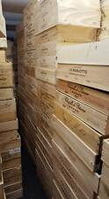 FRENCH CRESTED FLAT 6 BOTTLE WOODEN WINE CRATE / BOX PLANTER KITCHEN STORAGE BOX