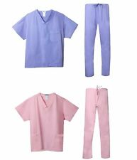 Medical Uniform Scrubs in Pink or Blue - Buy 2 Pack of Tops & Bottoms Today