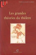 LES GRANDES THÉORIES DU THÉÂTRE PAR MARIE-CLAUDE HUBERT ÉDIT. ARMAND COLIN 2001