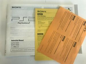 Instruction Booklet / Manual For The Playstation 2 Slim SCPH-75002 & 75003