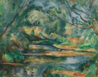 The Brook Paul Cezanne Fine Art Print on Canvas Geclee Reproduction Painting SM