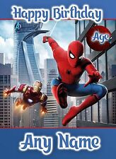 * SPIDER-MAN HOMECOMING MOVIE * ANY NAME AGE RELATION PERSONALISED BIRTHDAY CARD