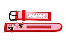 16mm Pink Red Rubber Disney Lorus Minnie Mouse Watch Band Strap