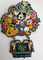 Disney 35th Anniversary Jumbo Pin 2006- Fab 5 Mickey Minnie Donald Goofy LE 1500