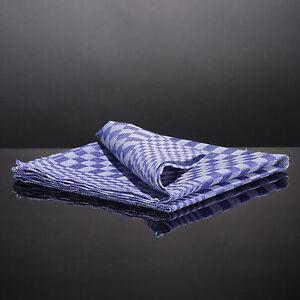 10 Halbleinen Grubentücher Grubentuch grau blau Touchon 50x100cm Geschirrtuch
