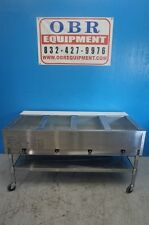 EAGLE GROUP NATURAL GAS STEAM TABLE FOUR OPEN WELLS PAN MODEL SHT4-NG A