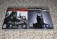 Batman Arkham Dual Pack & Origins Asylum City Complete Tested