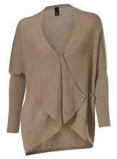 Best Connections by Heine Feinstrick Strickjacke Verschlusslos Beige Melange 40