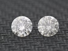 Matching .38ct each (0.76ctw) Round Loose Diamond G color, I2-I3 clarity 4.6mm