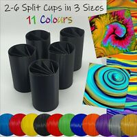 5 Acrylic Split Pouring Cups with 3 sizes and 11 colours available