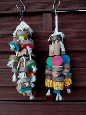 Papageienspielzeug im Set , Hartholz,Kork,Mais,Baumwolle,