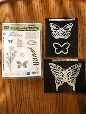 Stampin Up Butterfly Basics Stamps & Butterflies Thinlits Dies Retired New