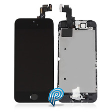 For Apple iPhone 5S Black LCD Digitizer + Camera Earpiece Sensor & Home Button