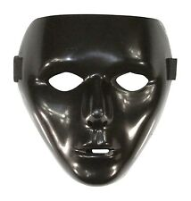 Black Full Face Jabbawockeez Dance Crew Plastic Costume Masquerade Mask Prop