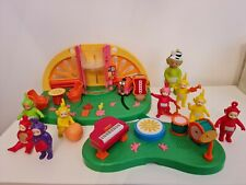 RARE Teletubbies LIGHTS SOUNDS Super Dome & Music Time Playsets + LOADS FIGURES