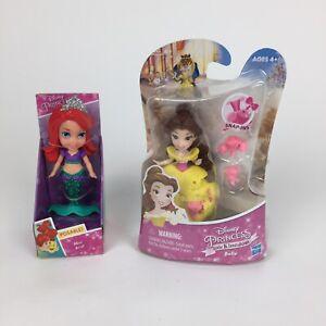 Disney Princess Toddler Doll Mini Ariel Mermaid and Little Kingdom Belle Figures