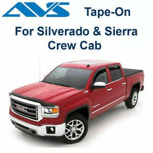 AVS Rain Guards 94536 Window Vent Visor Fit 14-18 Sierra & Silverado|(Tape-On)