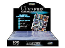 30 x ULTRA PRO PLATINUM TRADING CARDS 9 POCKET 3 HOLES ALBUM SLEEVES