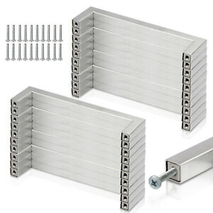 10-20 x Möbelgriffe Designgriff Schublade Schrankgriff Küchengriff Edelstahl