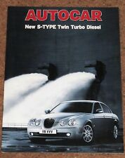 2004 JAGUAR S-TYPE 2.7D v BMW 730d v Mercedes E320CDi Road Test Reprint Brochure
