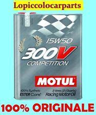 MOTUL OLIO AUTO 300V 15W50 COMPETITION latta da 2 LITRI Racing