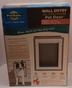 NEW PetSafe Wall Entry Pet Door with Telescoping Tunnel Aluminum Medium