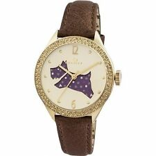 Radley RY2210 Ladies Brown Leather Strap Watch With Stones