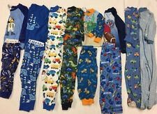 Lot Of 8 - 18 & 18-24 month 2 Piece & Footed pajamas Zip Up PJ boys Light Weight