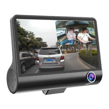 4'' 1080P HD 170° 3 Lens Car DVR Dash Cam G-sensor Recorder + Rearview Camera