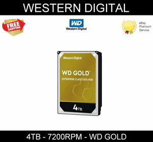 "WD Western Digital Gold 4 TB 3.5"" Internal SATA III 6GB/S HDD Hard Disk Drive"