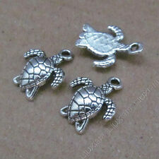 20pc Animal Small Pendants Charm Sea turtle Pendant Beads Jewellery Making V625